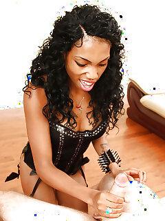 Ebony Handjob Pics